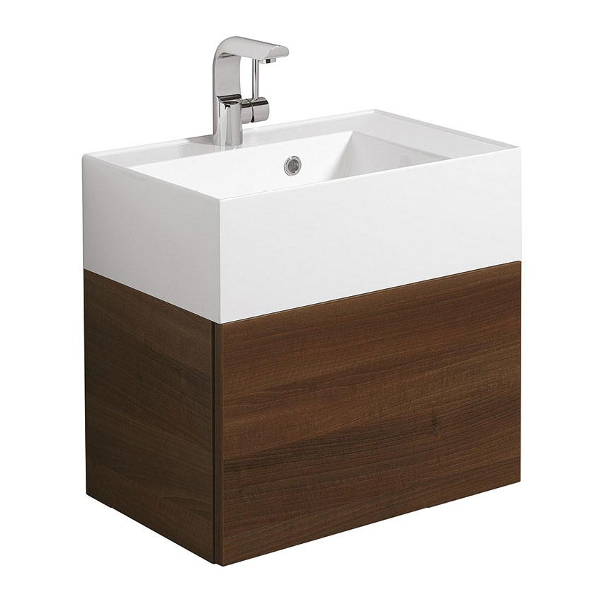 Bauhaus Elite Unit & Cast Mineral Marble Basin - Walnut profile large image view 1