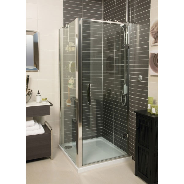 Roman - Embrace Hinged Shower Door - Various Size Options Profile Large Image
