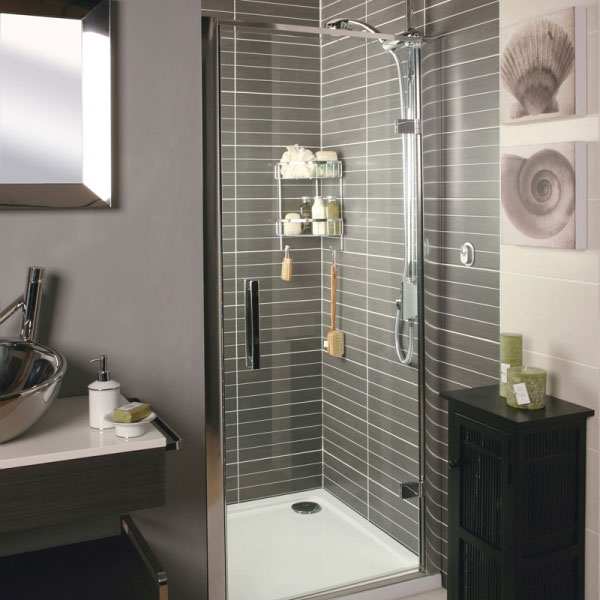 Roman - Embrace Hinged Shower Door - Various Size Options Large Image