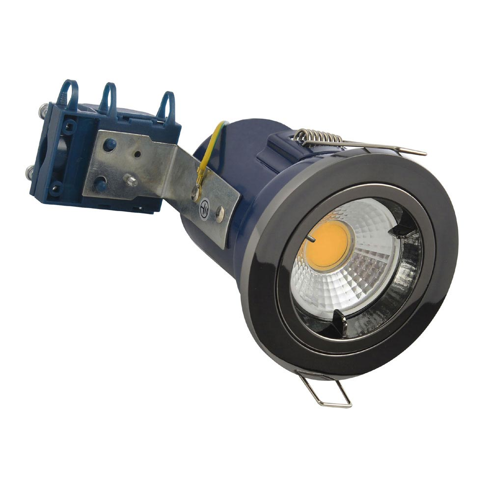 Forum Electralite Fixed Black Chrome Fire Rated Downlight - ELA-27465-BCHR profile large image view 1