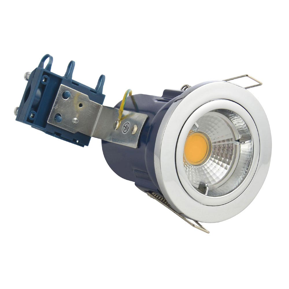 Forum Electralite Fixed Chrome Fire Rated Downlight - ELA-27465-CHR profile large image view 1