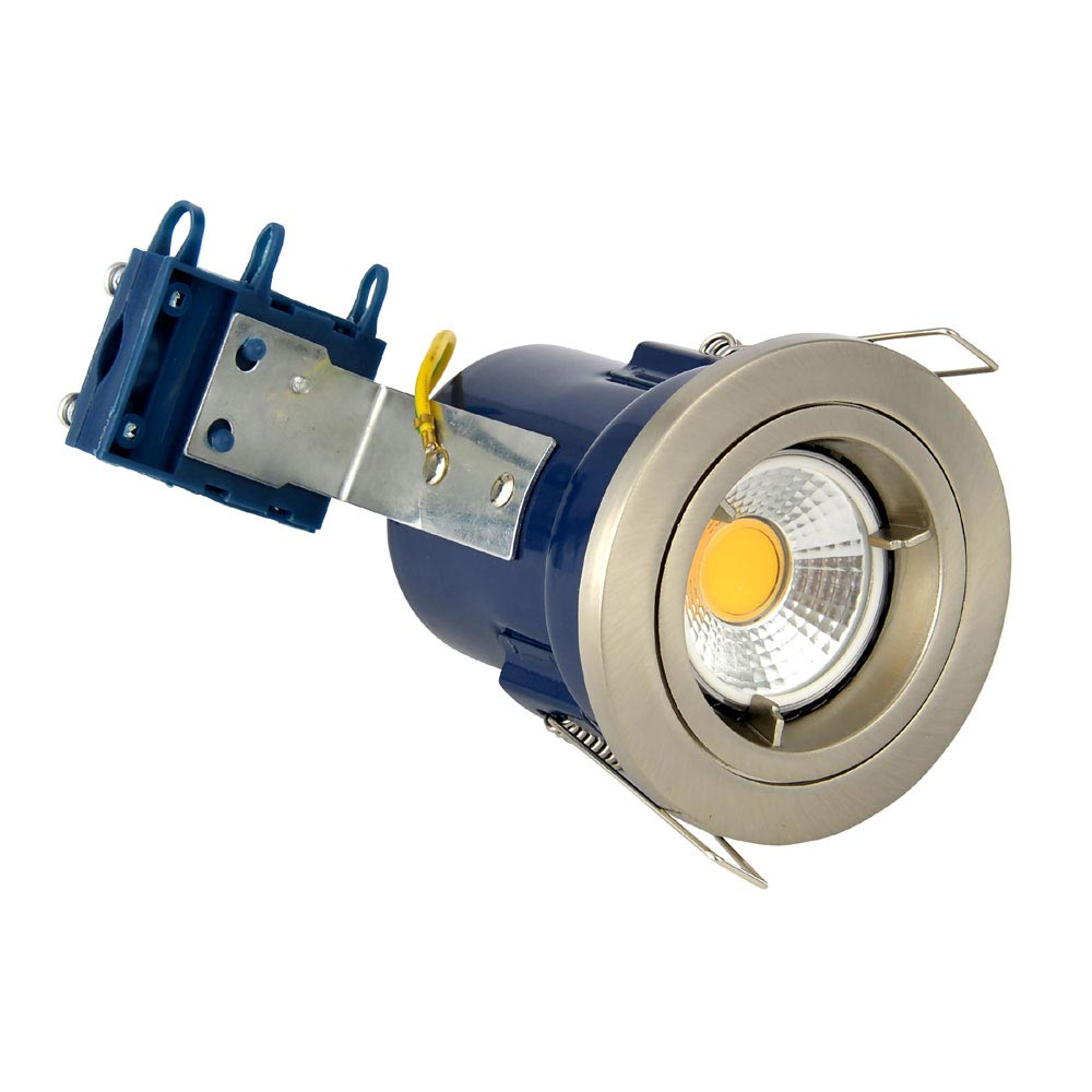 Forum Electralite Fixed Satin Chrome Fire Rated Downlight - ELA-27465-SCHR profile large image view 1