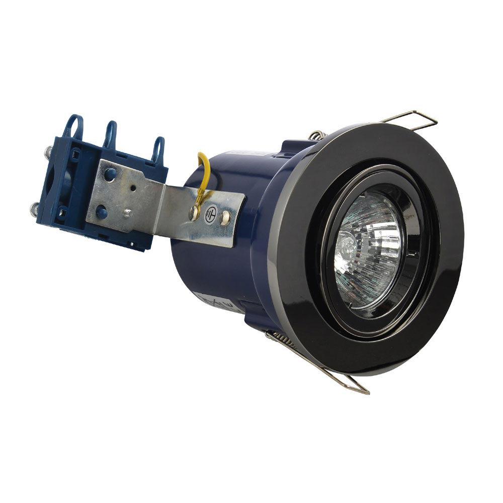 Forum Electralite Adjustable Black Chrome Fire Rated Downlight - ELA-27466-BCHR Large Image