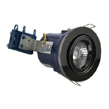 Forum Electralite Adjustable Black Chrome Fire Rated Downlight - ELA-27466-BCHR Medium Image