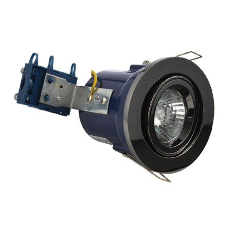 Forum Electralite Adjustable Black Chrome Fire Rated Downlight - ELA-27466-BCHR