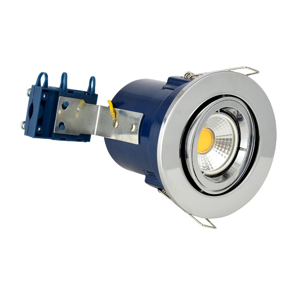 Forum Electralite Adjustable Chrome Fire Rated Downlight - ELA-27466-CHR Large Image