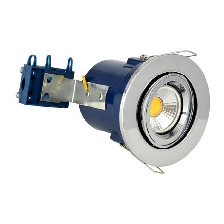 Forum Electralite Adjustable Chrome Fire Rated Downlight - ELA-27466-CHR
