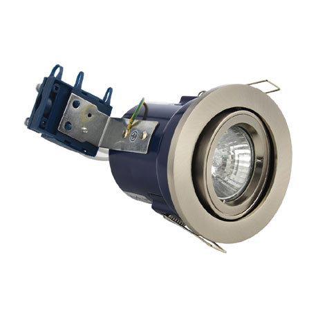 Forum Electralite Adjustable Satin Chrome Fire Rated Downlight - ELA-27466-SCHR