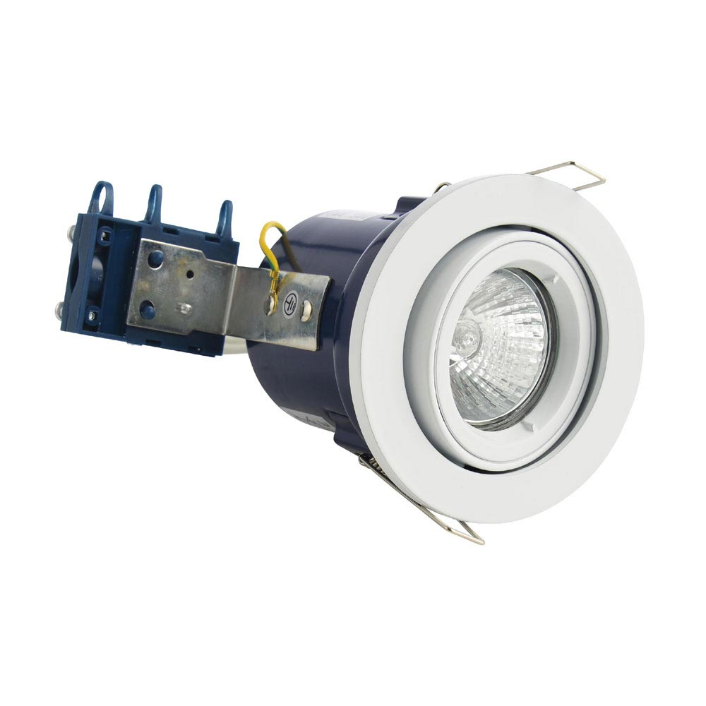 Forum Electralite Adjustable White Fire Rated Downlight - ELA-27466-WHT profile large image view 1