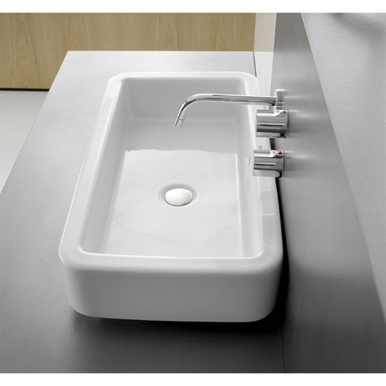 Roca - Element Counter Top Basin - 700mm - No Tap Hole Profile Large Image