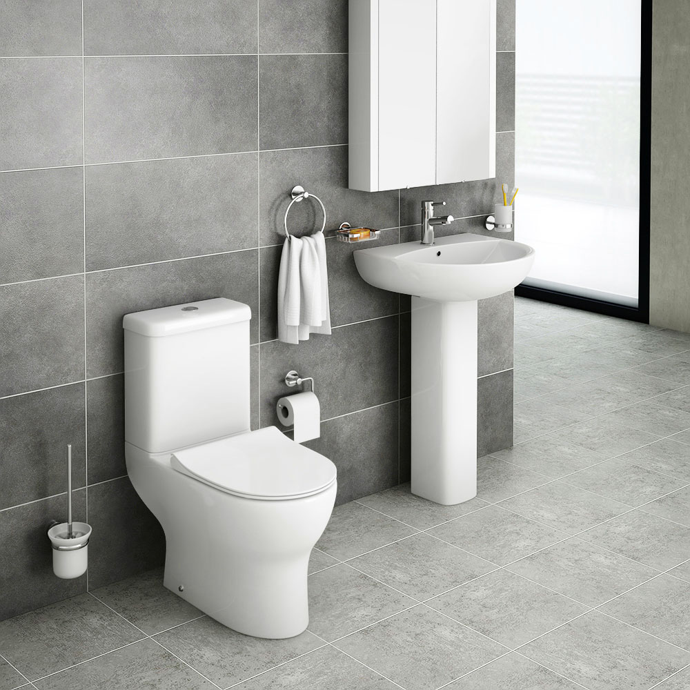 Elite Rimless 4-Piece Modern Bathroom Suite