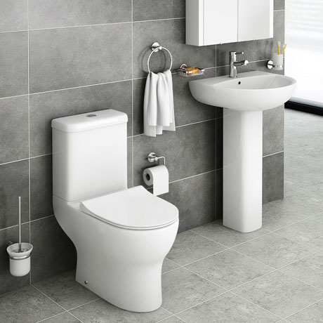 Elite Rimless 4-Piece Modern Bathroom Suite