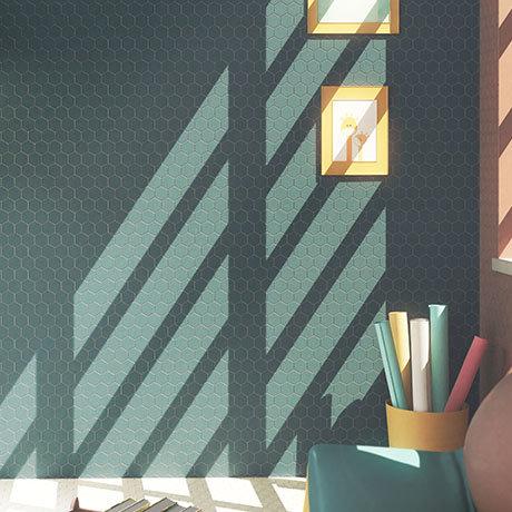 Elise Blue Hexagon Wall and Floor Tiles - 170 x 520mm