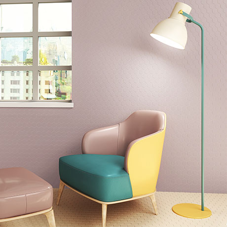 Elise Pink Hexagon Wall and Floor Tiles - 170 x 520mm
