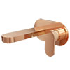 Elite Rose Gold Wall Mounted Bath Filler Tap profile small image view 1
