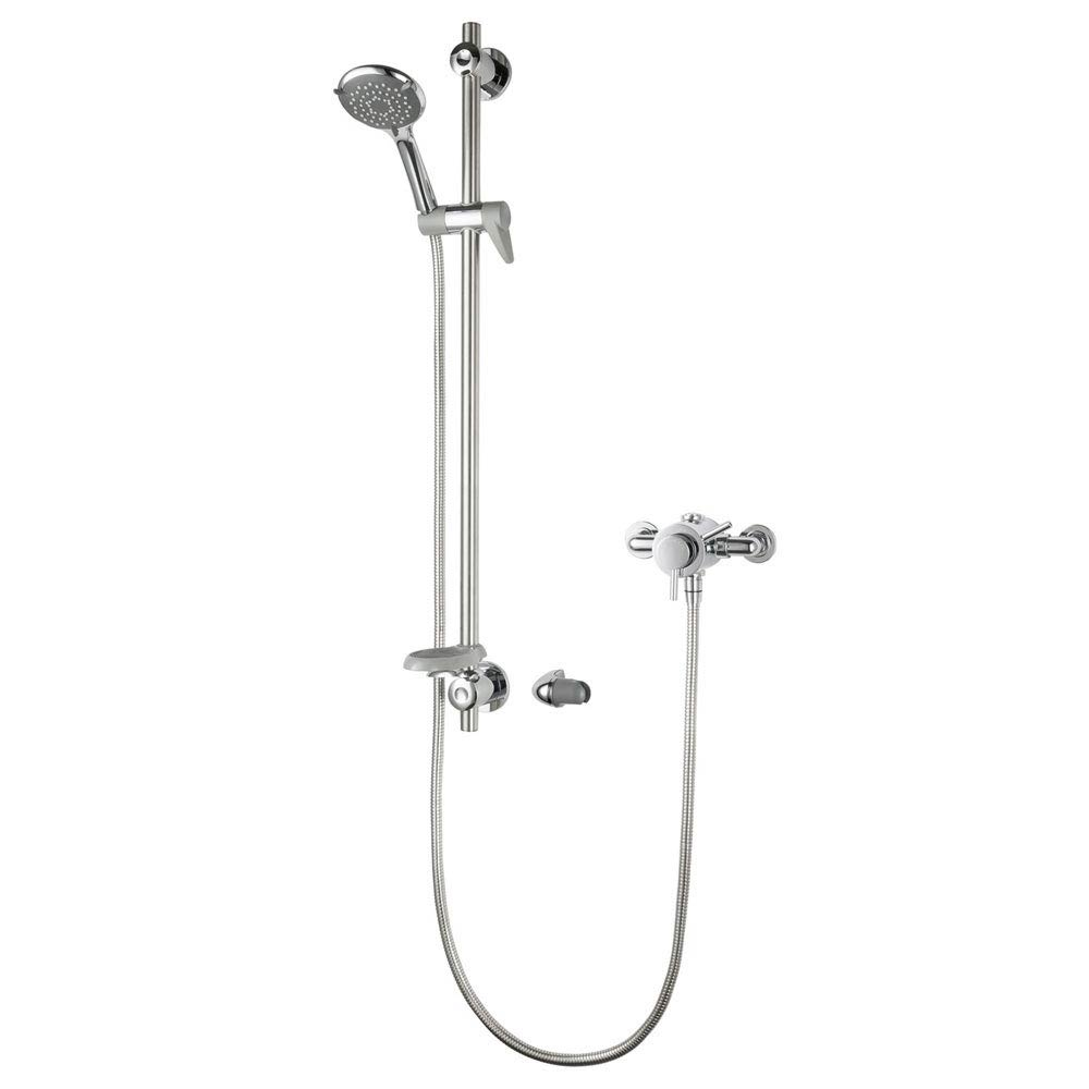 Triton Elina Exposed TMV3 Concentric Shower Valve & Grab Riser Kit - ELICMINCEX Large Image