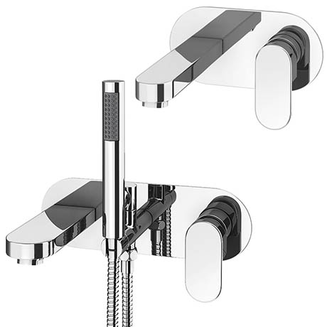 Elite Wall Mounted Tap Package (Bath + Basin Tap)