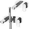 Elite Wall Mounted Tap Package (Bath + Basin Tap) profile small image view 1