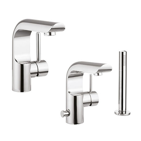 Crosswater Elite Basin + Bath Tap Package