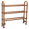 Elland Traditional 910 x 1000mm Freestanding Steel Towel Rail - Copper profile small image view 1