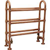 Elland Traditional 778 x 686mm Freestanding Steel Towel Rail - Copper profile small image view 1