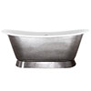 JIG Montreal 0TH Polished Pewter Lustre Cast Iron Roll Top Bath (1680 x 760mm) profile small image view 1