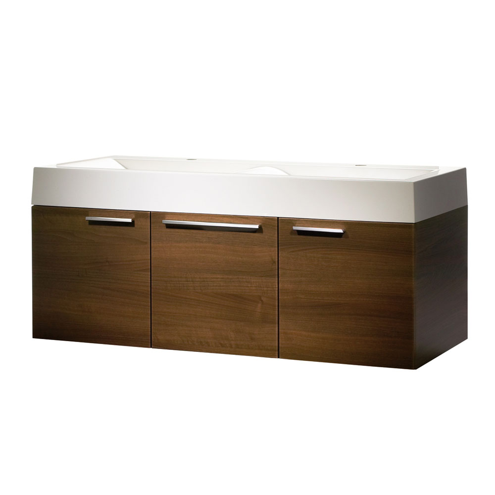 Roper Rhodes Envy 1200mm Double Wall Mounted Unit - Walnut Large Image