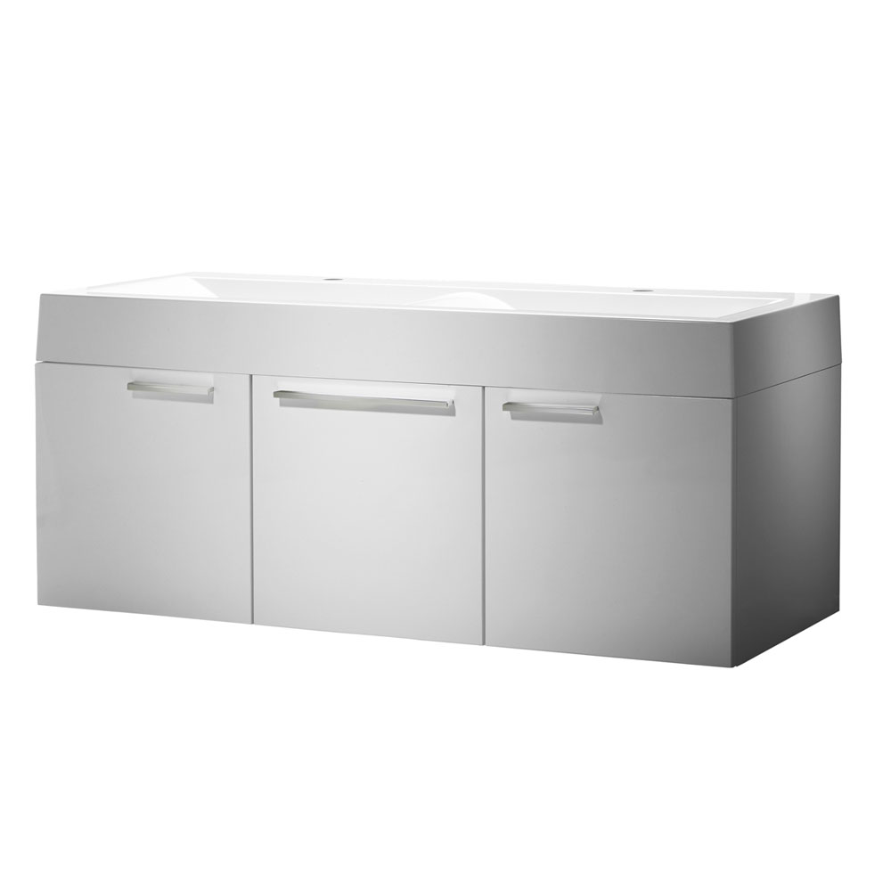 Roper Rhodes Envy 1200mm Double Wall Mounted Unit - Gloss White profile large image view 1