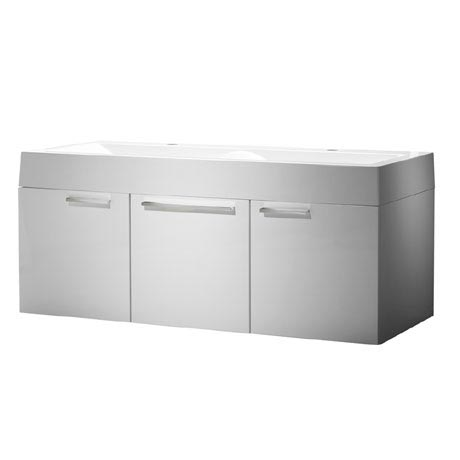 Roper Rhodes Envy 1200mm Double Wall Mounted Unit - Gloss White