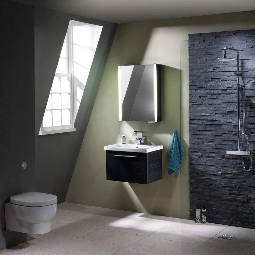 Roper Rhodes Envy 600mm Wall Mounted Unit - Anthracite profile large image view 2