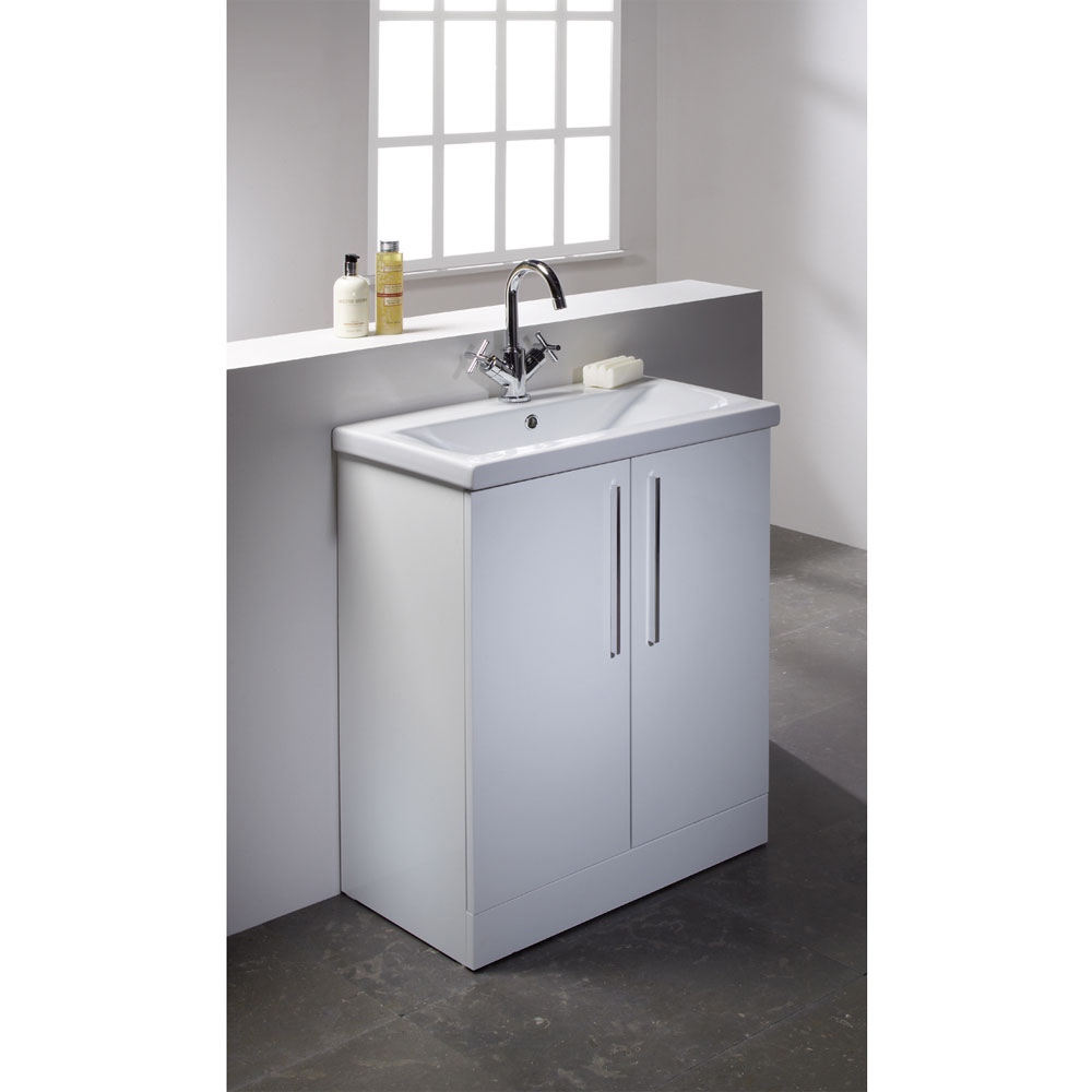 Roper Rhodes Envy 700mm Freestanding Unit - Gloss White Profile Large Image