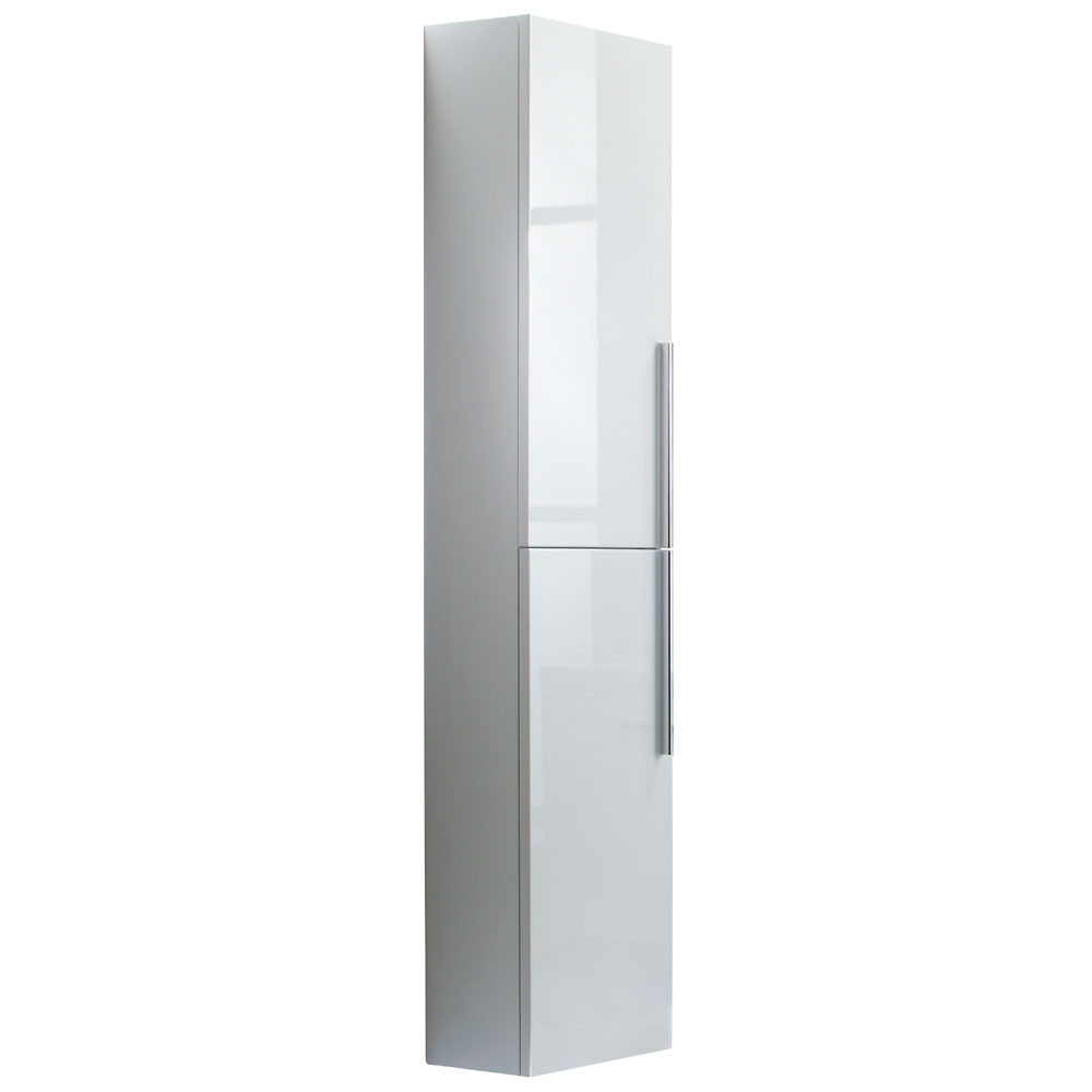Roper Rhodes 300mm Tall Bathroom Storage Cupboard - Gloss White Large Image