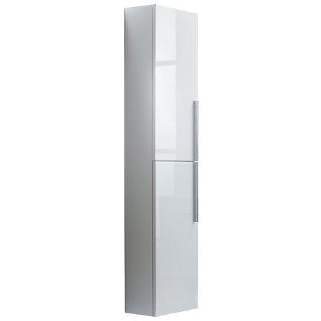 Roper Rhodes 300mm Tall Bathroom Storage Cupboard - Gloss White