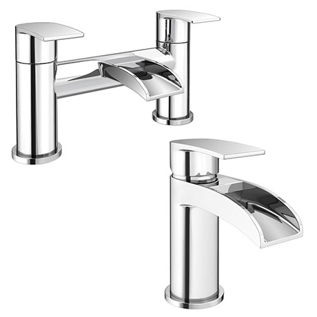 Enzo Waterfall Tap Package (Bath + Basin Tap)