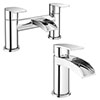 Enzo Waterfall Tap Package (Bath + Basin Tap) profile small image view 1