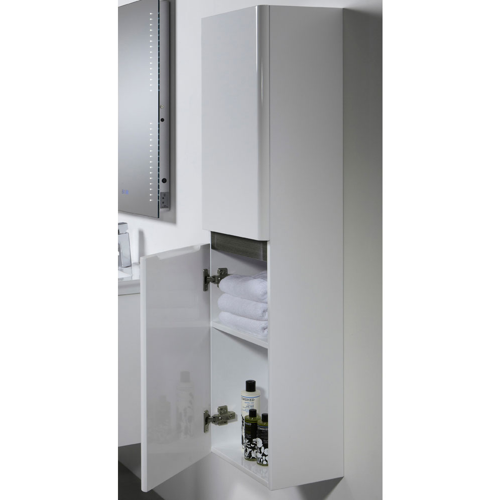 Tavistock Equate 330mm Storage Unit - Gloss White/Grey Oak profile large image view 2