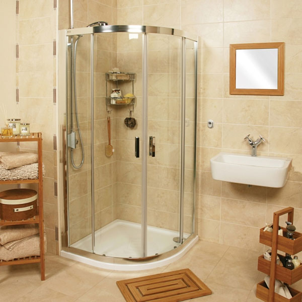 Roman - Embrace Twin Door Quadrant Shower Enclosure - 3 Size Options Large Image