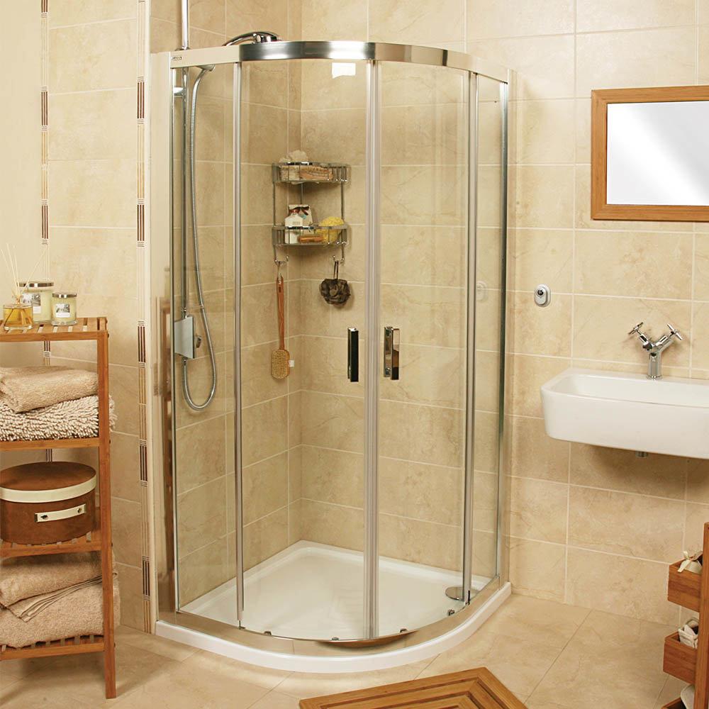 Roman Embrace Twin Door Offset Quadrant Shower Enclosure - Various Size Options