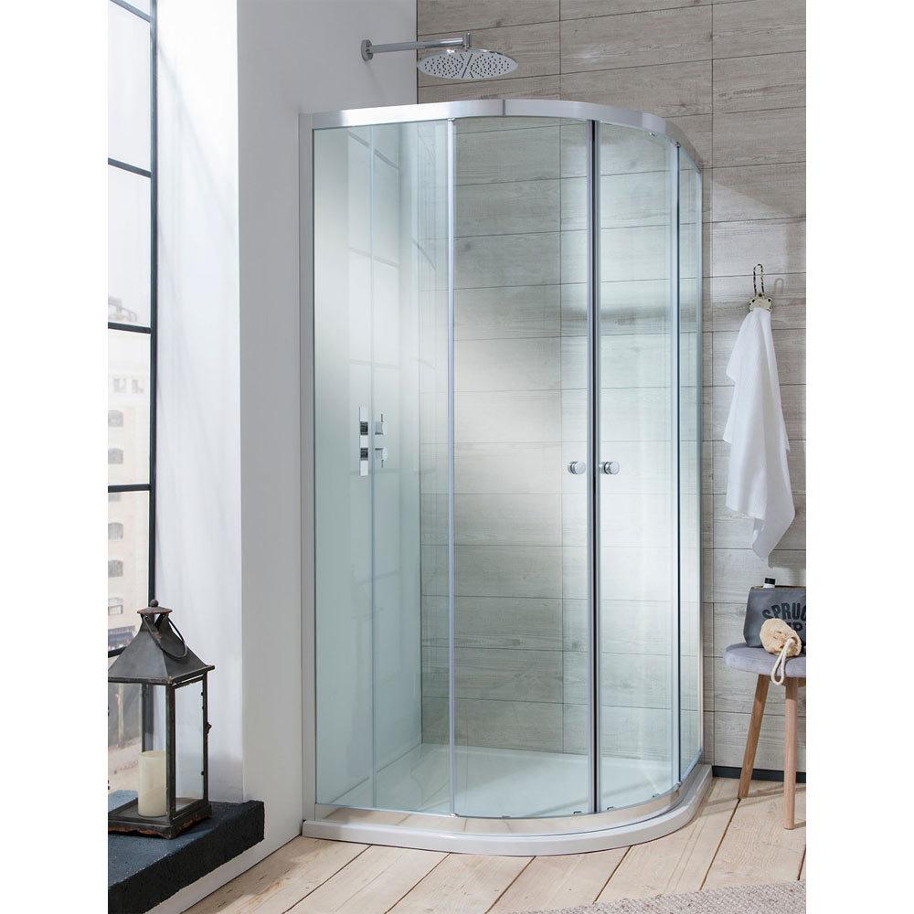 Simpsons - Edge Quadrant Double Door Shower Enclosure - 3 Size Options