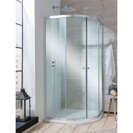 Simpsons - Edge Quadrant Double Door Shower Enclosure - 3 Size Options