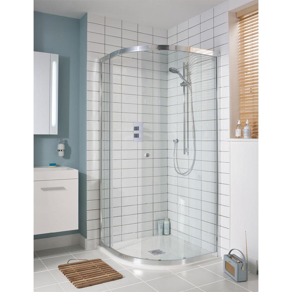 Simpsons - Edge Quadrant Single Door Shower Enclosure - 3 Size Options