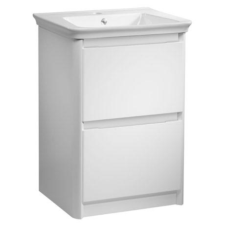 Tavistock Equate 600mm Freestanding Unit & Basin - Gloss White