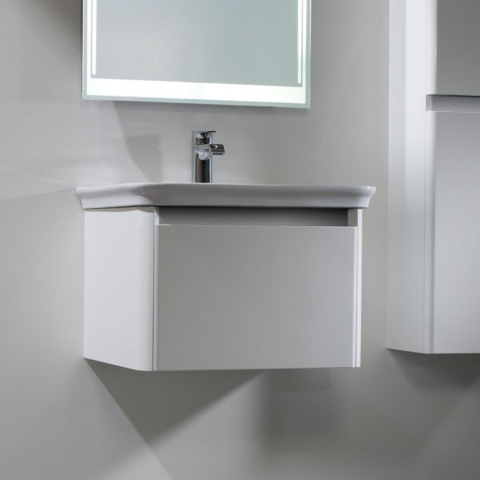 Tavistock Equate 600mm Wall Mounted Unit & Basin - Gloss White profile large image view 2