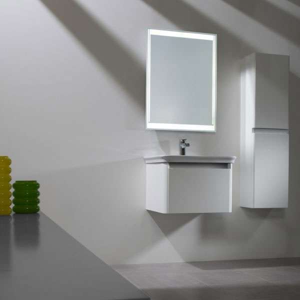 Tavistock Equate 600mm Wall Mounted Unit & Basin - Gloss White profile large image view 3