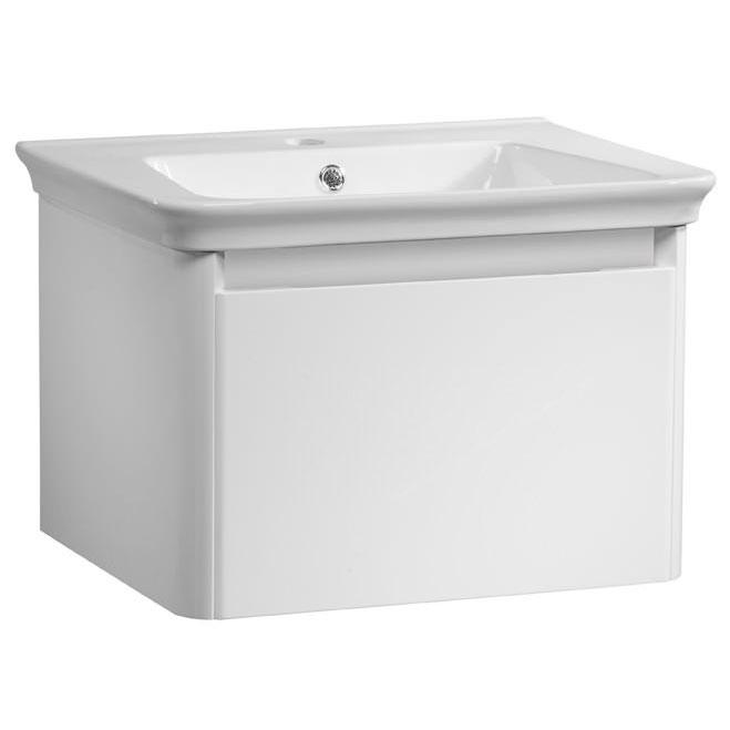 Tavistock Equate 600mm Wall Mounted Unit & Basin - Gloss White Large Image