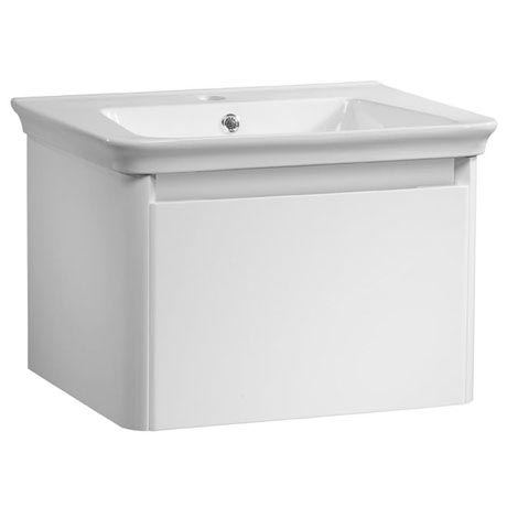 Tavistock Equate 600mm Wall Mounted Unit & Basin - Gloss White