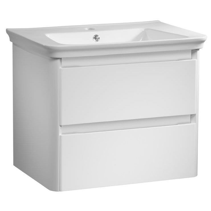 Tavistock Equate 700mm Wall Mounted Unit & Basin - Gloss White Large Image