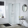 Ella Corner Entry Shower Enclosure - Various Size Options - Enclosure Only profile small image view 1