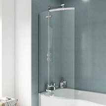 Ella 1400 Curved P-Bath Screen - ERCS0 Medium Image
