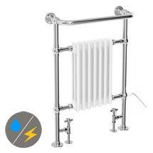 Savoy Traditional Towel Rail (Inc. Valves + Electric Heating Kit) Medium Image